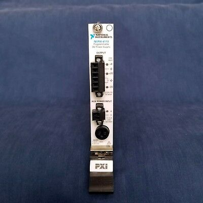 National Instruments NI PXI-4110 Programmable Power Supply, 3-Ch, 20 V, 1A