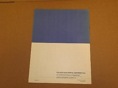 Pioneer QM-800  4-CH Amplifier Original Operating Instructions Owners Manual