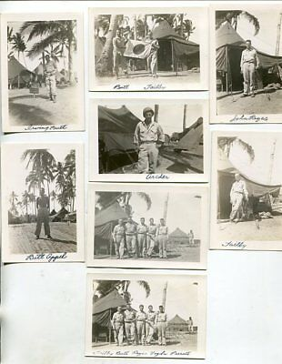Original 1945 *WW2* Photos US Military Leyte, Philippines, Lot of 8