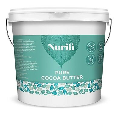 1KG COCOA BUTTER - 100% Unrefined, Food Grade,Pure & Natural - INTRODUCTORY SALE