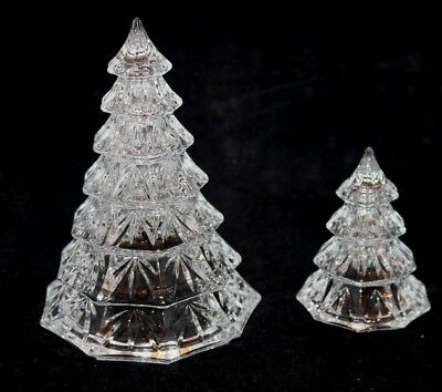 Marquis By Waterford Crystal Clear Christmas Trees Small & Large 3 1/2