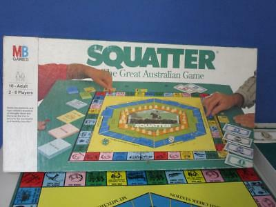Rare Vintage SQUATTER BOARD GAME 1961 The Australian Farming Game by Murfett VGC