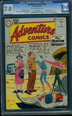 Adventure Comics 283 CGC 7.0 Silver Age DC Key 1st General Zod Man of Steel L@@K