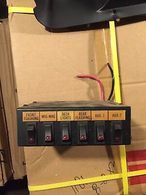 (1) used Code 3 Switchbox 6 Switches