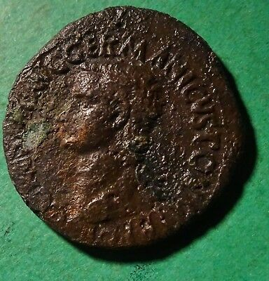 *Tater* Roman Imperial ae AS Coin of Caligula  VESTA