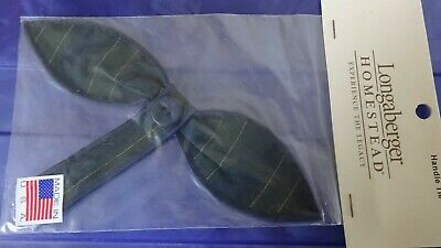 Longaberger Homestead Collectors Club Stripe Small Bow Button Handle Tie - NEW