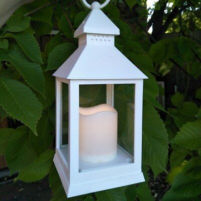 10 x LED white lantern centerpiece, wedding lantern candle holder