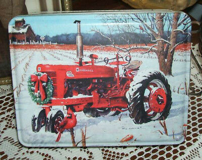 "Beautiful Tin Featuring ""Pioneer Seeds"" With A Farmall Tractor In The Field"