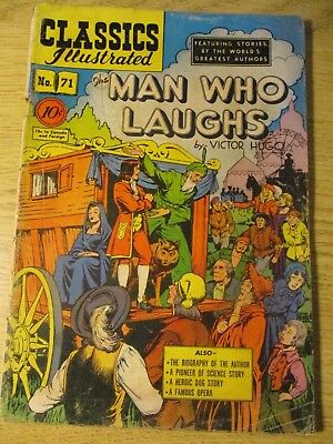 Classics Illustrated #71 The Man Who Laughs By Hugo Ihrn #71 1St Ed Scarce