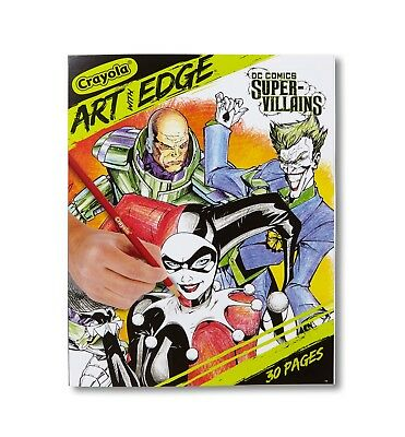 Crayola Art With Edge Dc Super Villains Coloring BookIncludes 30 PagesNew