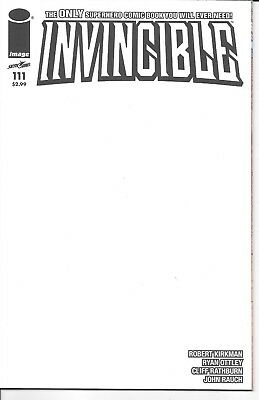 Image Comics INVINCIBLE #111 first printing blank cover