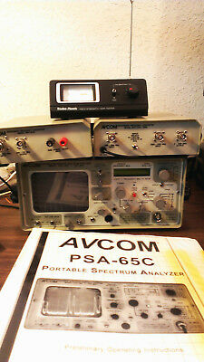 AVCOM PSA-65C Spectrum Analyzer With MFC-3700 & MFC-1250-2500 - Excellent Cond.