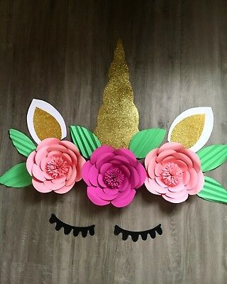 Paper Flowers, Unicorn, Glitter, Bright, Backdrop, made to order