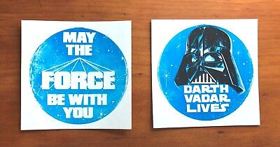 1978 Star Wars Vending Machine Bootleg Stickers - Set of 2 - Extremely Rare