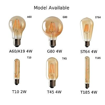 Dimmable E27 4W LED Light Bulb Lamp Vintage Retro Filament Edison Bulbs showroom