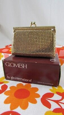 #SundayMarket GLOMESH Gold Coin PURSE with Clip Frame Top – AS NEW – In Box