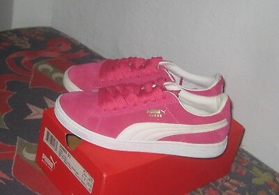 fe3b214e04e515 Puma Suede Classic BeetRoot Purple White Gold Leather Women s Sneaker Size 7