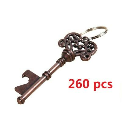 260pcs Vintage Skeleton Metal Key Bottle Opener Beer Wedding Bridal Shower Favor