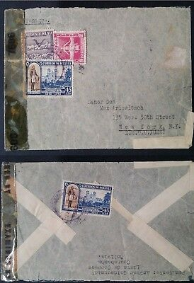 SCARCE c. 1942 Bolivia Censor Cover ties 4 stamps canc Cochabamba