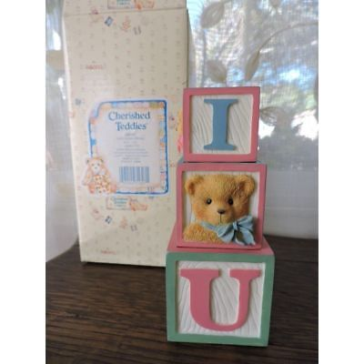 Cherished Teddies Love Letters Display Blocks Set of 3 #240281 NIB