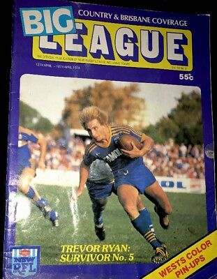 Big League Magazine 1978 Magpies Signed Tom Raudonikis & John Donnelly Posters