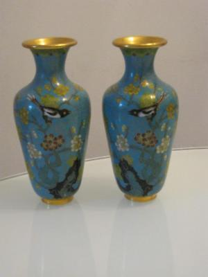 Stunning Pair Of Chinese Cloisonne Vases