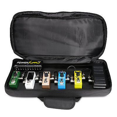 Donner Guitar Effects Pedal Board DB-2 Aluminum Pedalboard with Fashion Case