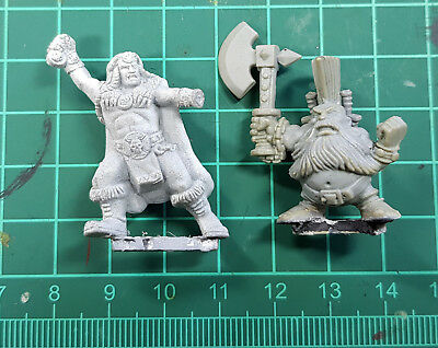Warhammer Quest Fantasy Barbarian Dwarf Heroes Fighters Damaged Incomplete