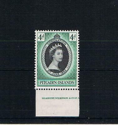 pitcairn islands 1953 coronation imprint single [mounted in the margin only]