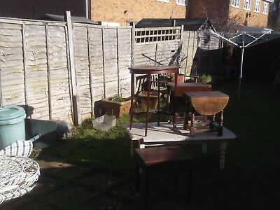 job lot antique small furniture 4  tables oak and mahogany need tidy up £29 now