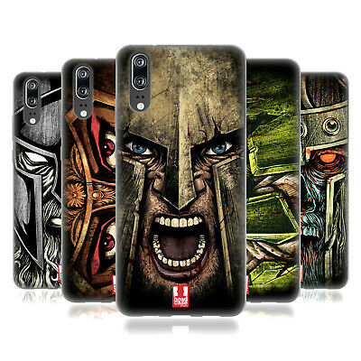 Head Case Designs Medieval Helmets Soft Gel Case For Huawei Phones