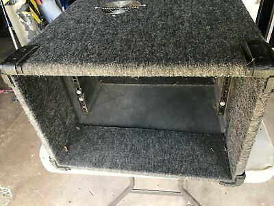 road case - carpeted open 6 unit rack sleeve
