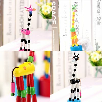 Wooden Colorful Wood Animal Puzzles Toys Giraffe Toy Rocking Giraffe Dancing