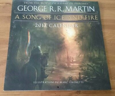 Rare 2013 A Song of Ice and Fire Wall Calendar 9780345531544 New but unsealed