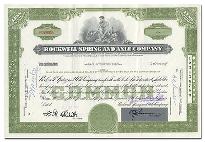 Rockwell Spring and Axle Company Stock Certificate
