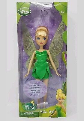 Disney Collection Tinker Bell 10 Inch Doll Wings Flutter Fairy Fairies Figure