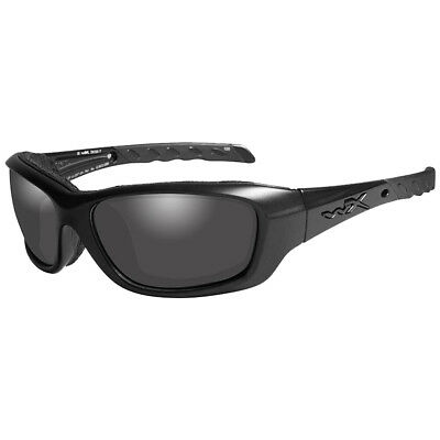 Wiley X WX Gravity Glasses Durable Smoke Grey Lens Black Ops Matte Black Frame