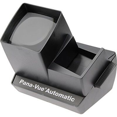 Pana-Vue Automatic Lighted 2x2 Slide Viewer for 35mm Brilliant 4X Magnification
