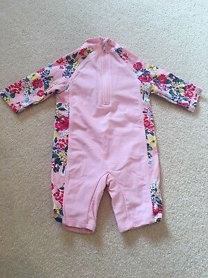 Baby Girls Monsoon Swim Suit Size 3-6 Months