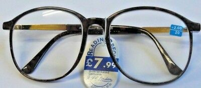 Stylish Large Lens Brown Carbon Fibre Reading Glasses In All (9) Strengths C62