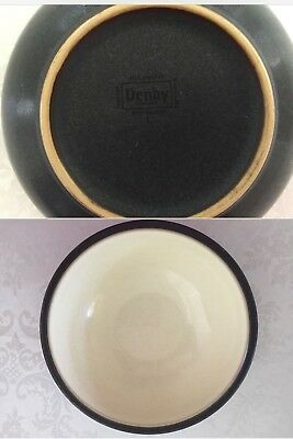Denby Energy Soup / Cereal Bowl White with Charcoal Trim