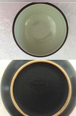 """Denby Energy Soup / Cereal Bowl 7"""" Green & Charcoal Grey"""