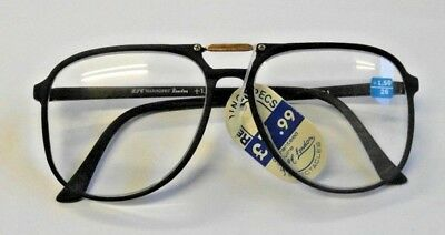 Stylish Large Lens Black Carbon Fibre Reading Glasses In All Strengths C61/1018