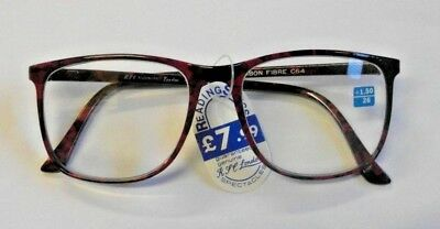 Stylish Burgundy Carbon Fibre Reading Glasses In All Strengths C64/1020