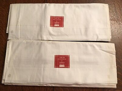 """90""""x106"""" vint FLAT SHEET MUSLIN cotton CANNON NWT NU GREAT GRAPHICS 1of2"""