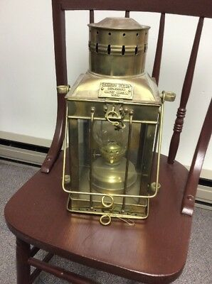 Brass Nautical Cargo Light No. 3954 Great Britain 1939~Converted to Electric