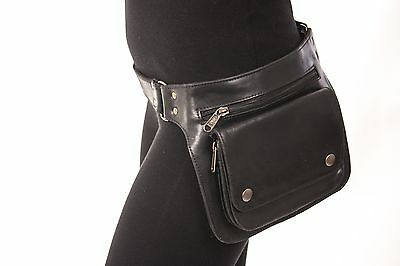 Handmade Leather Waist Pack Bag Party Festival Style Belt Utility Pouch