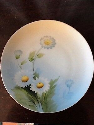 Meito China Saucer plate Hand Painted Floral Daisy Made Japan 6-1/2 in w Vintage