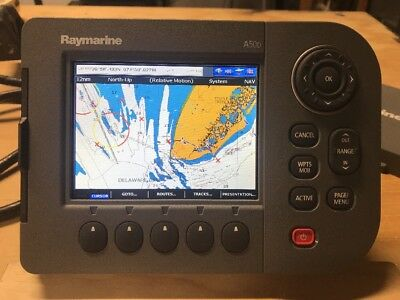 Raymarine A50D GPS Chartplotter Sonar Display; Built-in GPS & US Coastal Charts