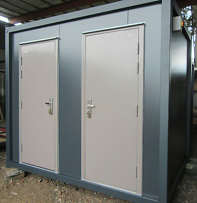 10ft x 7ft PORTABLE TOILET / SHOWER BLOCK BRAND NEW 1+1 TOILET SHOWER 4500 + VAT